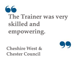 Quote: Trainer very skilled and empowering